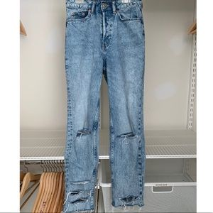 Custom Distressed Jeans (Worn Once)